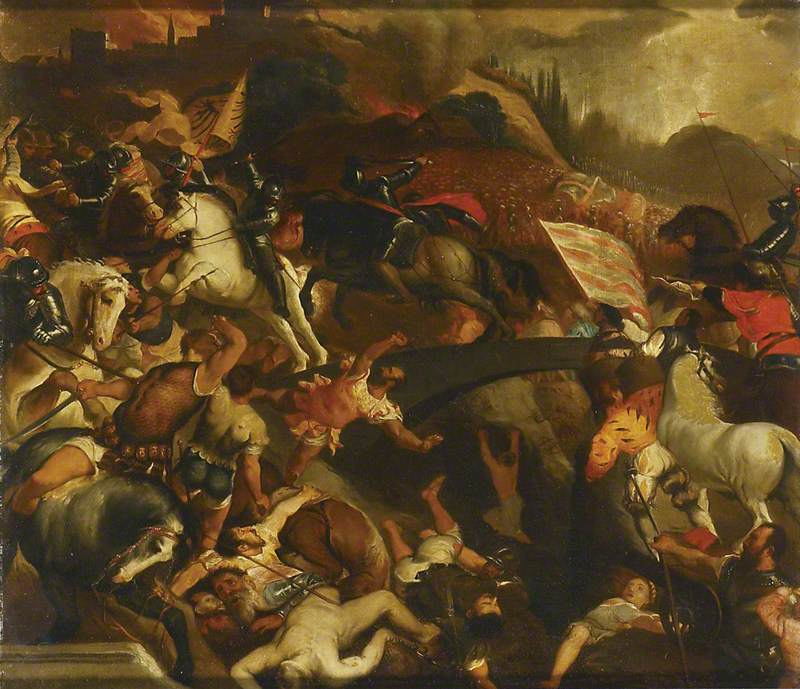 TItian battle of cadore ashmolean copy