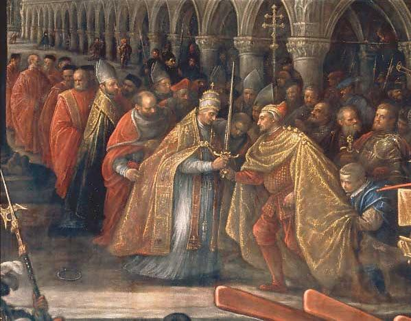 Pope giving a Blessed Sword to a Doge of Venice
