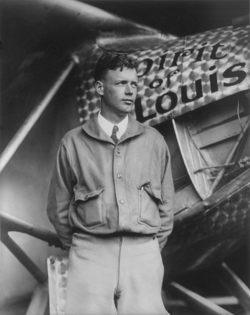800px Charles Lindbergh and the Spirit of Saint Louis Crisco restoration with wings