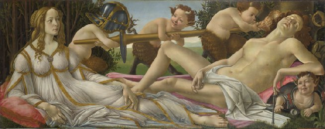 venus and mars botticelli national gallery