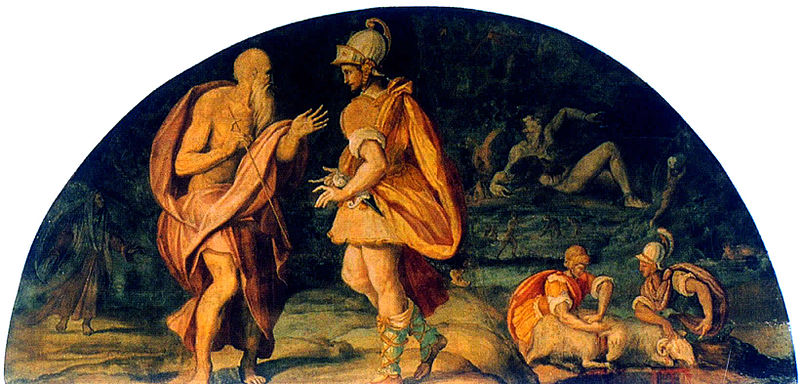 Alessandro Allori Odysseus questions the seer Tiresias