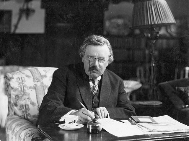 640px G. K. Chesterton at work