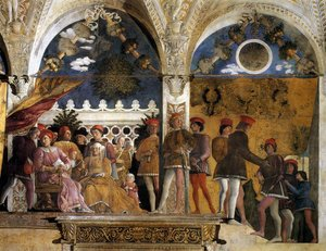 rsz mantegna the court of mantua 1471 1474 walnut oil on plaster 805 x 807 cm camera degli sposi palazzo ducale mantua 2