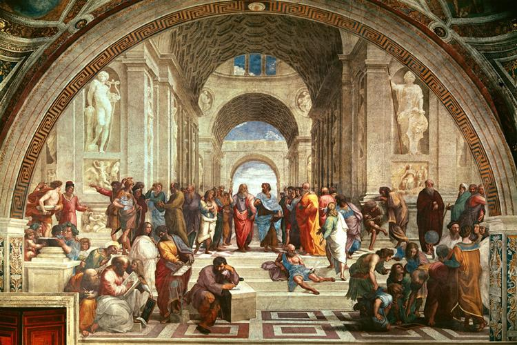 school of athens detail from right hand side showing diogenes on the steps and euclid 1511.jpgLarge